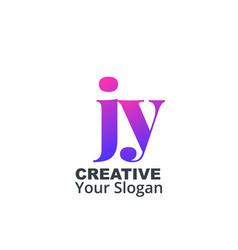 Initial letter jy lowercase design logo template vector
