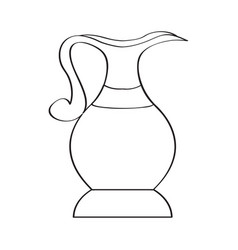isolated traditional jug vector image