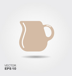 jug of milk icon vector image