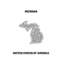 Label with map of michigan vector image