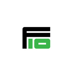 Letter f and number 10 - logo logotype f10 vector