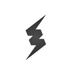 lightning icon or logo isolated on white vector image