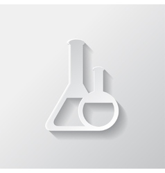 Medical flack chemical eequipment web icon vector image