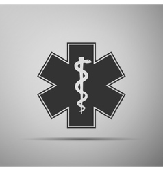 Medical symbol of the Emergency-Star of Life icon vector