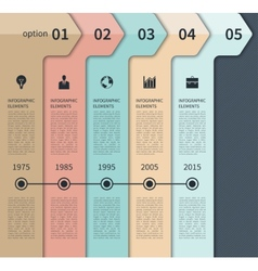 Modern timeline arrow infographics elements vector image