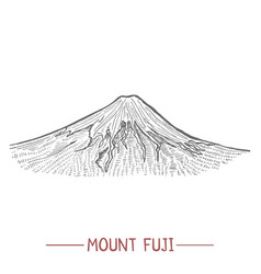 Mount fuji in hand drawn style vector