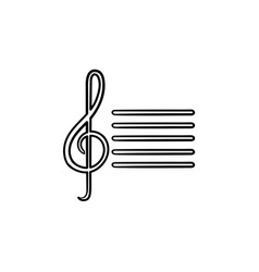 music note hand drawn sketch icon vector image