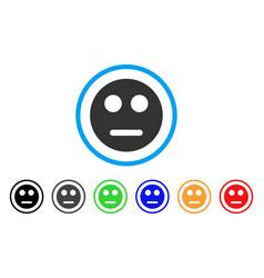 Neutral smiley icon vector