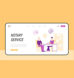 Official document validity landing page template vector