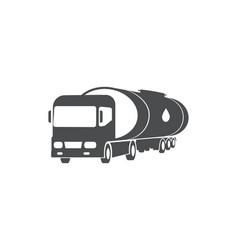 oil truck cargo delivery service symbol vector image
