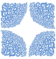 Ornament elements in blue and white colors vector