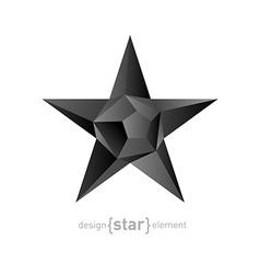 polygonal black star vector image