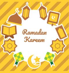 ramadhan template vector image