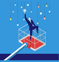 reaching a goal in business concept vector image
