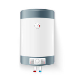 Realistic modern electric water heater vector