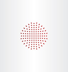 red halftone design element icon vector image
