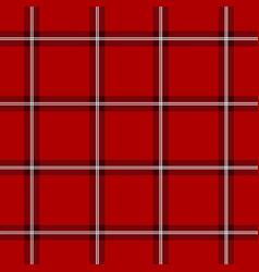 red scottish pattern vector image