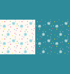 retro funny pattern for holidays with snow vector image