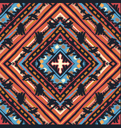 Seamless tribal boho pattern vector