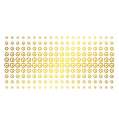 service tools golden halftone pattern vector image