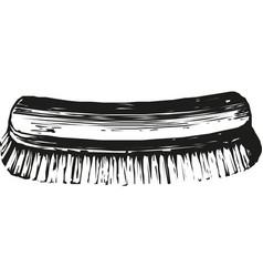 shoe polish brush icon vector image