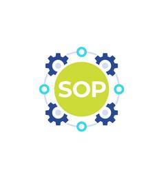 Sop icon standard operating procedure vector
