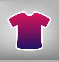 T-shirt sign purple gradient icon on vector