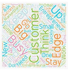 The entrepreneurial edge text background wordcloud vector
