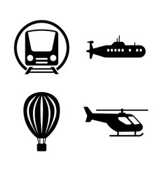 Transport transportation simple related icons vector