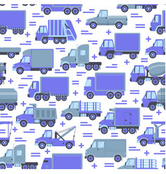 transportation seamless pattern with different vector image