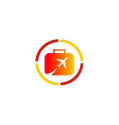 travel plane bag company logo vector image