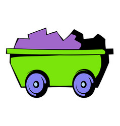 Trolley icon icon cartoon vector