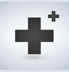 two crosses medicine or christian logo concept vector image
