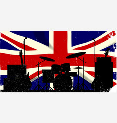Uk rock band vector