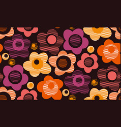 vintage stylized floral seamless pattern vector image