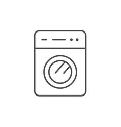 washing machine line outline icon vector image
