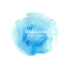 Watercolor blue abstract hand painted background vector