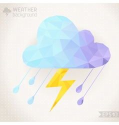 Weather geometric background vector