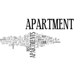 what to look for in an apartment text word cloud vector image