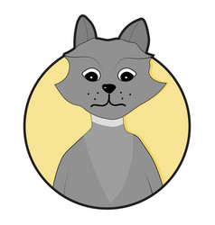 wolf icon sticker app flat vector image