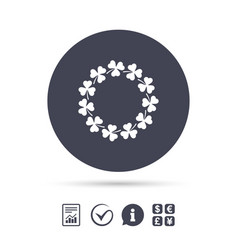 wreath of clovers with three leaves sign vector image