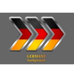 Abstract metallic arrow German colors vector image vector image