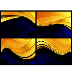 Gold darkness abstraction vector image vector image