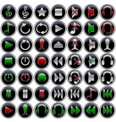 multimedia button vector image vector image