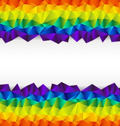 triangular background strip vector image vector image