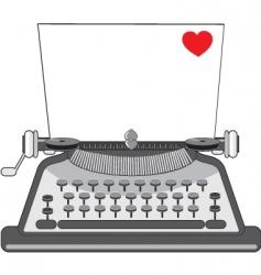 vintage typewriter vector image vector image
