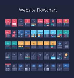 Website Flowchart 01 vector image vector image