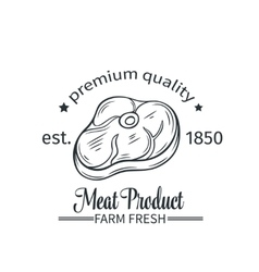 badge meat product vector image
