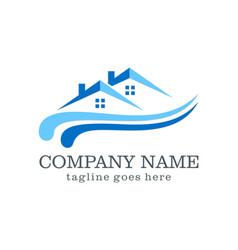 Home logo design company vector