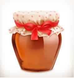 jar of honey 3d icon vector image